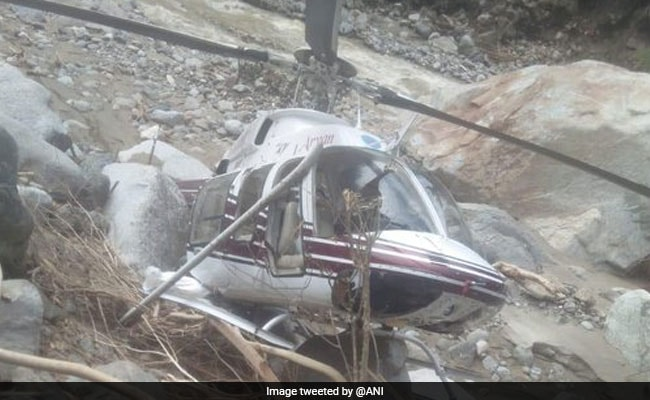 Helicopter Carrying Relief Material Makes Emergency Landing In Uttarkashi