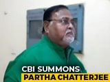 Video : Trinamool Minister Partha Chatterjee Summoned By CBI In Saradha Scam