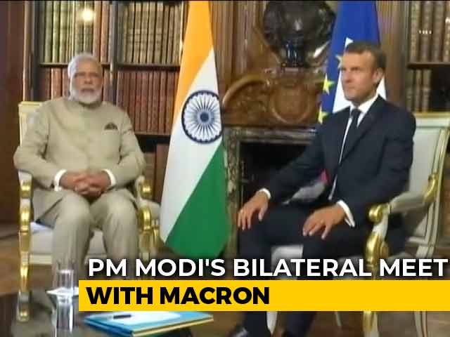 Video : India, Pak Should Resolve Kashmir Bilaterally: French President Emmanuel Macron