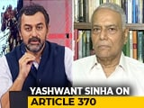 "Video : ""BJP Will Beat Rajiv Gandhi's Record If..."": Yashwant Sinha On Kashmir"