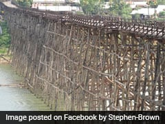 Thailand's Longest Wooden Bridge May Collapse As Heavy Rain Continues