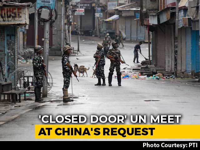 "Video : ""Closed Consultation"" At UN Security Council Today Over India's J&K Move"