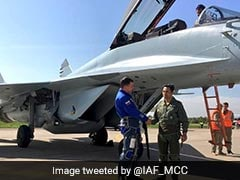 Indian Air Force Pilots Test Fly MiG 35 At Russian Air Show