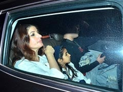 <i>Mission Mangal</i>: Twinkle Khanna Watches Akshay Kumar's Film With Nitara And Aarav