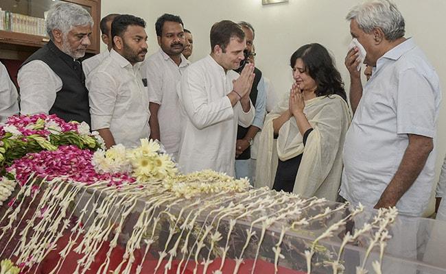 Sushma Swaraj's Legacy Will Endure, Touch Millions Of Lives: Rahul Gandhi