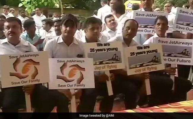 Jet Airways Employees Protest In Delhi, Demand Salaries