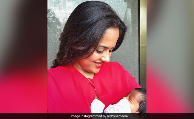 Sameera Reddy's Breastfeeding Post Comes With A Special Message For New Dads As Well