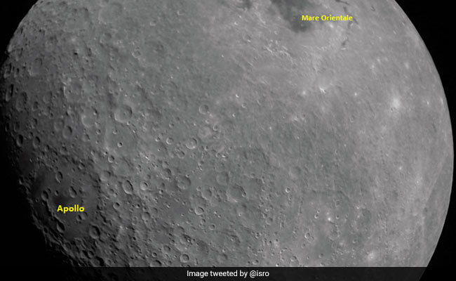 First Moon Photo By Chandrayaan-2 Shows Apollo Crater, Mare Orientale Basin