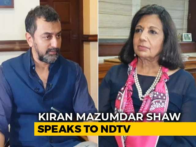 "Video : ""Government Trusts Bureaucrats Over Businessmen"": Kiran Mazumdar Shaw To NDTV"