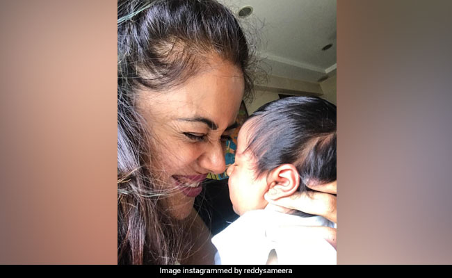 Sameera Reddy's Post For One-Month-Old Daughter Nyra Is Pure Love