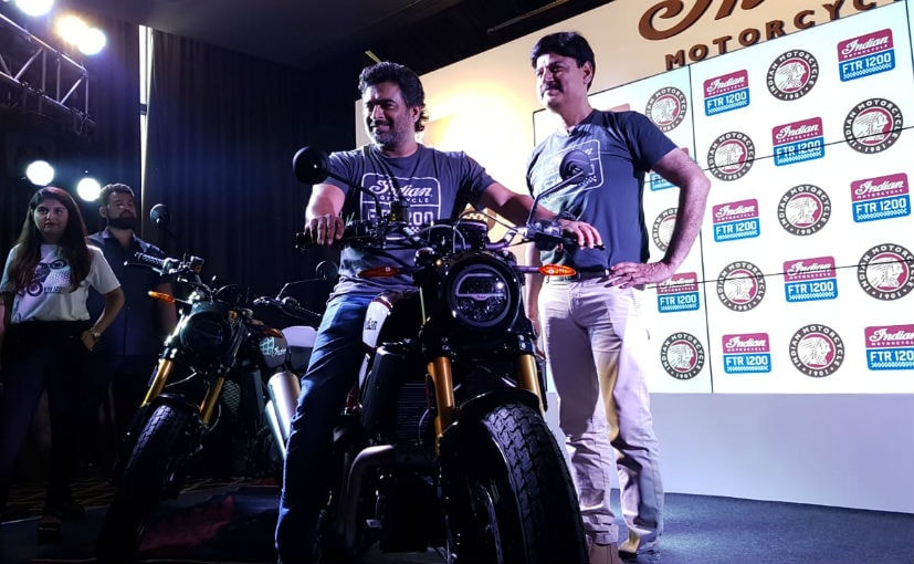 Actor R Madhavan and Indian Motorcycles - Country Head & MD - Pankaj Dubey at the FTR 1200 S launch
