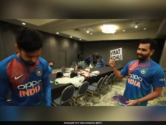 Virat Kohlis Reaction When Rohit Sharma Guessed His Name During takes heads up challenge With Ravindra Jadeja