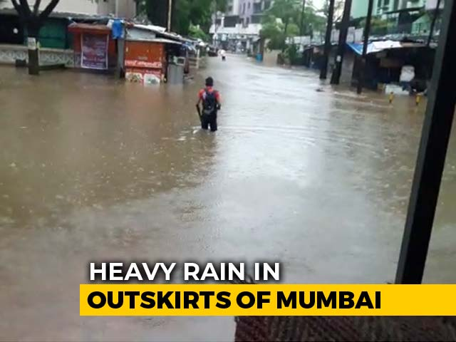 Video : Rail Traffic Disrupted In Mumbai After Heavy Rain Overnight