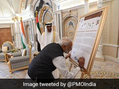 PM Modi Releases Postage Stamps On Mahatma Gandhi In UAE