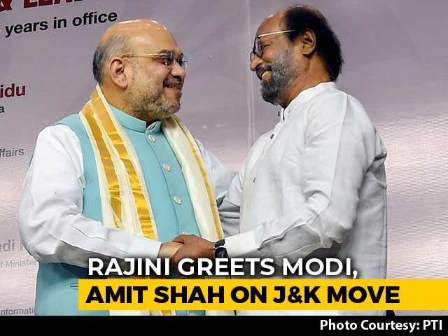 "Video : ""Krishna-Arjun"": Rajinikanth Hails PM, Amit Shah, Then Delivers A Googly"