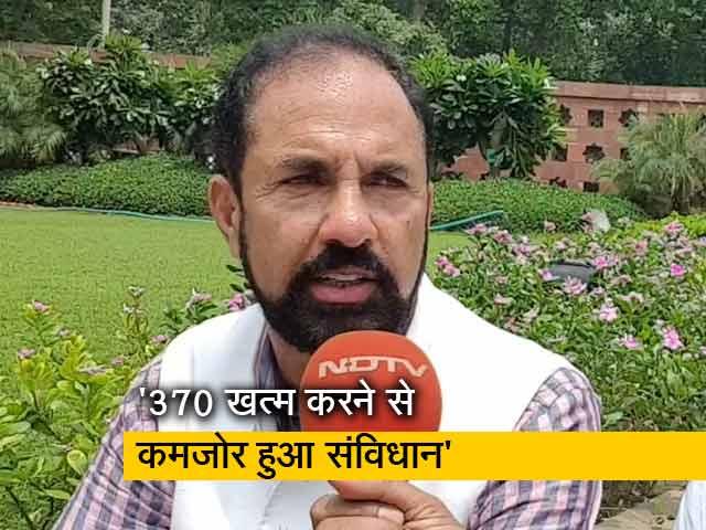 Videos : राजनीतिक फायदे के लिए हटाई गई धारा-370 : नजीर अहमद
