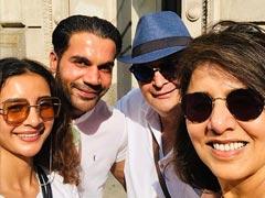 Rishi And Neetu Kapoor Met Rajkummar Rao, Patralekhaa '<I>Chalte Chalte</I>' In New York