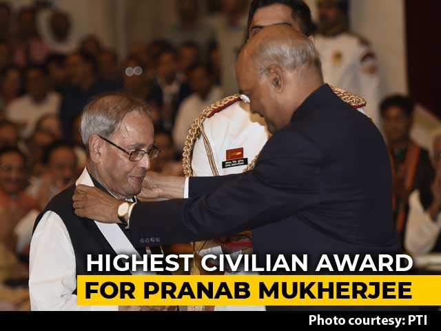 Video : Pranab Mukherjee Receives Bharat Ratna, India's Highest Civilian Award