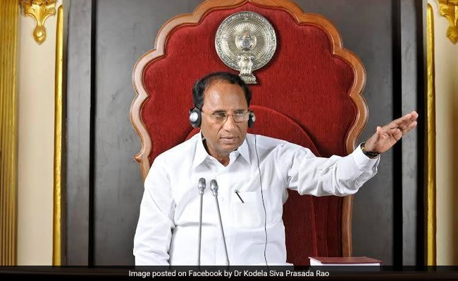 Former Andhra Speaker To Be Cremated With State Honours Tomorrow