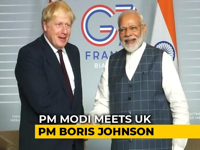 Video : Days After Phone Conversation, PM Modi, Boris Johnson Meet In France