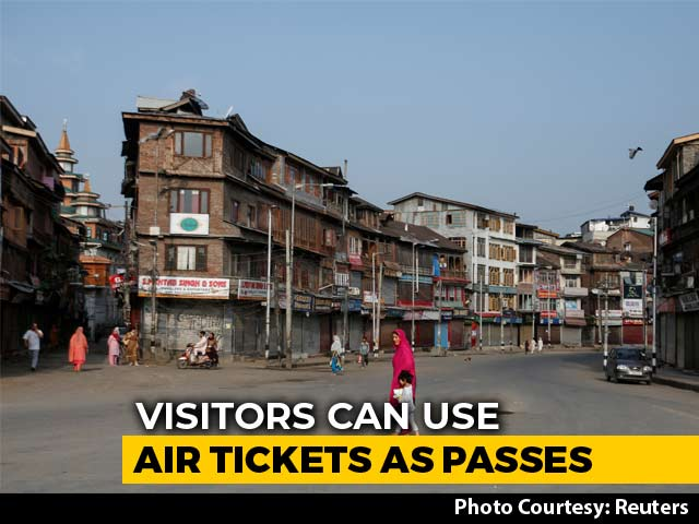 Video : Air Ticket As Pass To Visit Kashmir Amid Lockdown After Article 370 Move