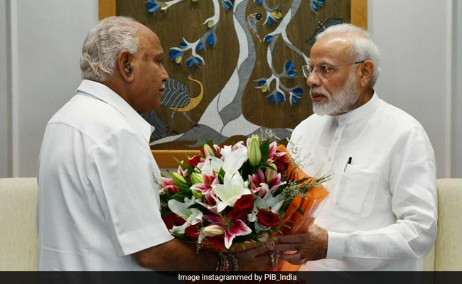 BS Yediyurappa Meets PM, Seeks Immediate Release Of Funds For Karnataka