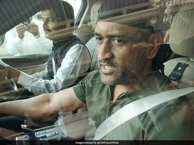 Former Skipper MS Dhoni spotted at Jaipur Airport in a brand new look