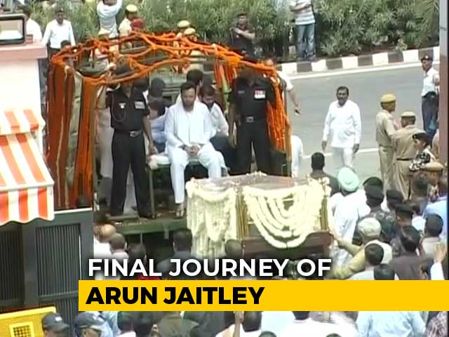 Video : Arun Jaitley's Final Journey After Thousands Pay Last Respects