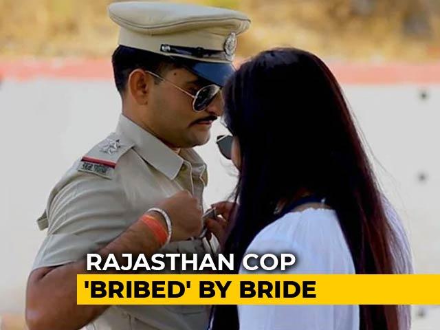 Video : Rajasthan Cop 'Bribed' By Bride In Pre-Wedding Video, Seniors Upset