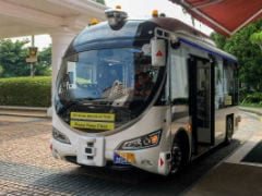 Automated Buses Dodge Peacocks, Tourists & Plants In Singapore Test