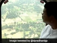 Dharmendra Pradhan Makes Aerial Survey Of Flood Hit Areas In Odisha