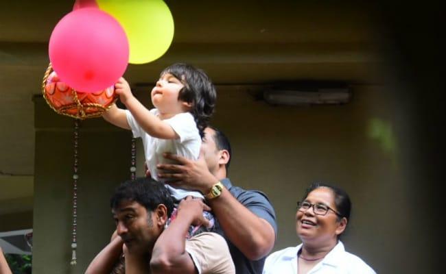 Janmashtami 2019: Taimur's Adorable Dahi Handi Debut With Little Sister Inaaya