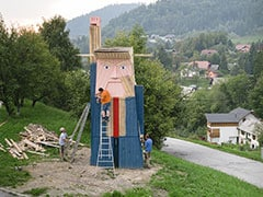 Wooden Statue Of Trump Pops Up In Slovenia, His Wife's Home Country