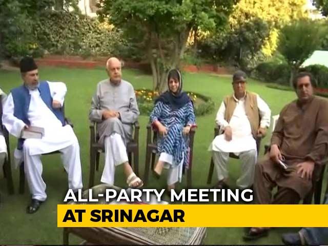 Video : Mehbooba Mufti, Abdullahs At All-Party Meet Amid Kashmir Turmoil