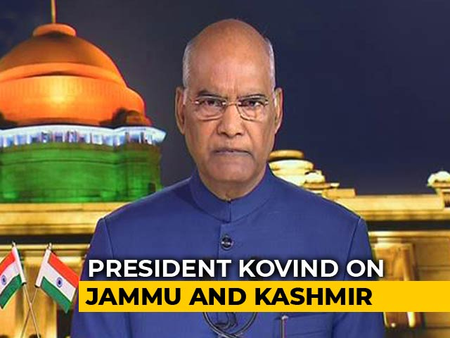 Video : Confident That Changes For J&K, Ladakh Will Benefit Resident, Says President