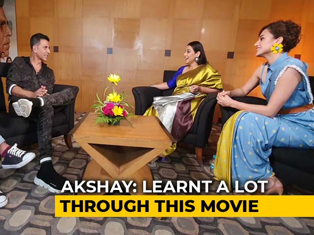 Mission Mangal Stars Akshay, Vidya & Taapsee On Their Space Film And More