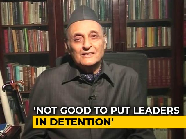 "Video : ""Should Look Forward Now"": Congress's Karan Singh On Centre's Kashmir Move"