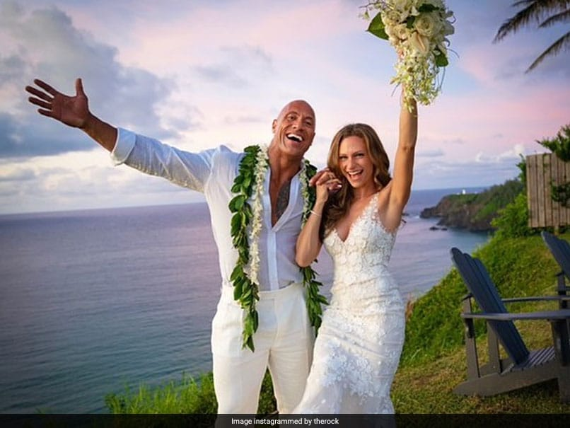 "Dwayne ""The Rock"" Johnson Ties The Knot With Longtime Girlfriend Laura Hashian In Hawaii"