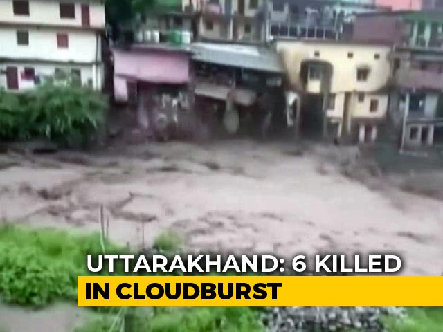 Video: On Video, Houses Washed Away After Cloudburst In Uttarakhand
