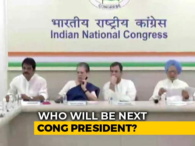 Video : Rahul Gandhi's Insistence, Congress's 5 Group Meetings To Pick New Chief