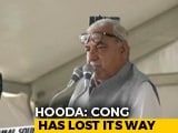 Video : At Poll Meet, Congress's Bhupinder Hooda Supports BJP's Kashmir Move