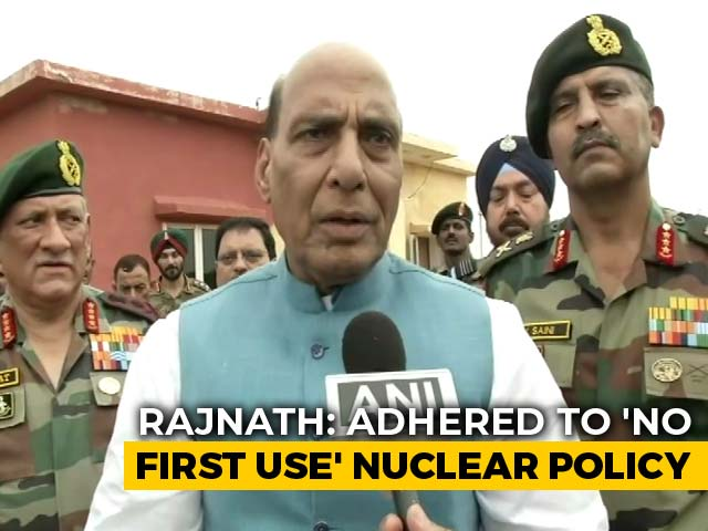 """Video : Rajnath Singh's Hint On N-Policy: """"Future Will Depend On Circumstances"""""""