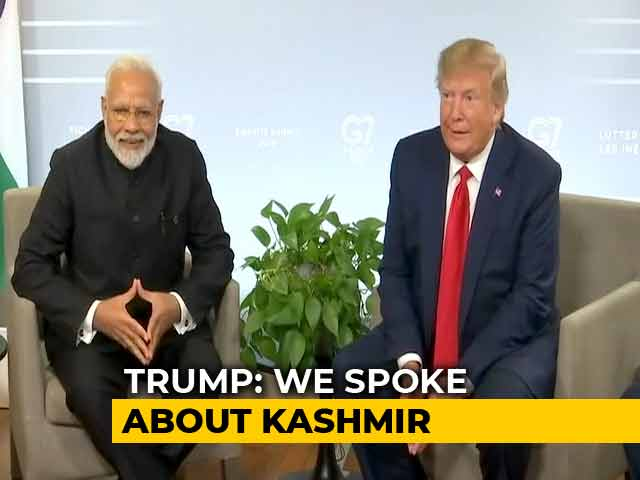 "Video : PM Modi ""Really Feels He Has It Under Control"": Trump On Kashmir"