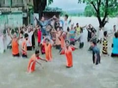 Locals Dance On Waterlogged National Highway In Karnataka's Belagvi