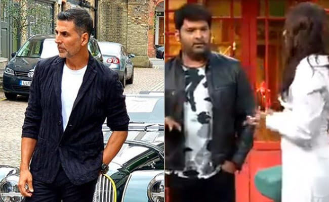 Image result for kapil-sharma-video-akshay-kumar-fall-from-roof-top-video-viral-the-kapil-sharma-show