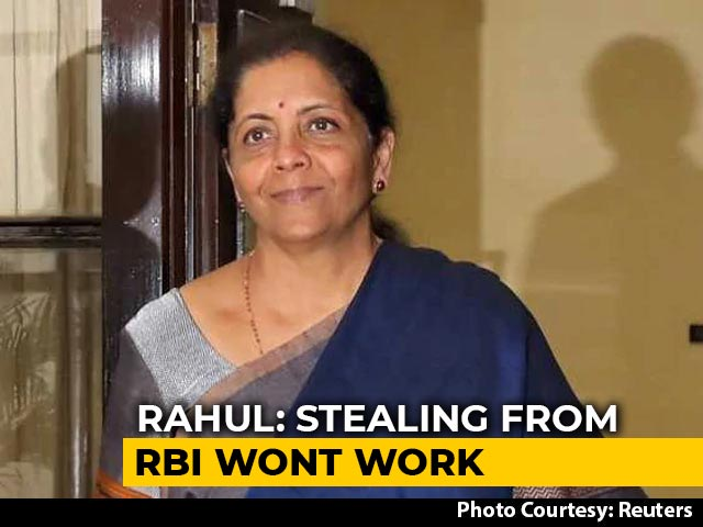 """Video : """"Outlandish"""": Finance Minister Dismisses Criticism Of RBI Payout"""