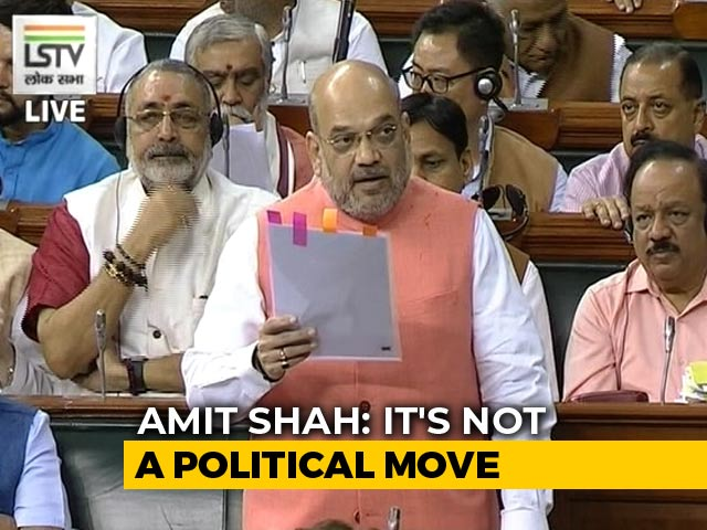 "Video : ""PoK Included When I Talk About J&K"": Amit Shah Hits Back At Opposition"