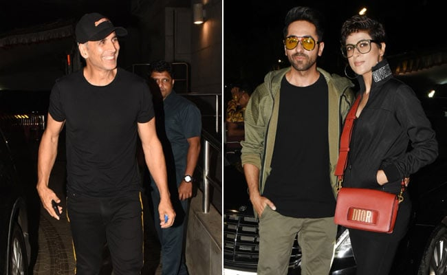 Akshay Kumar, Ayushmann Khurrana, Tahira Kashyap Cheer For Sonakshi Sinha At Khandaani Shafakhana Screening