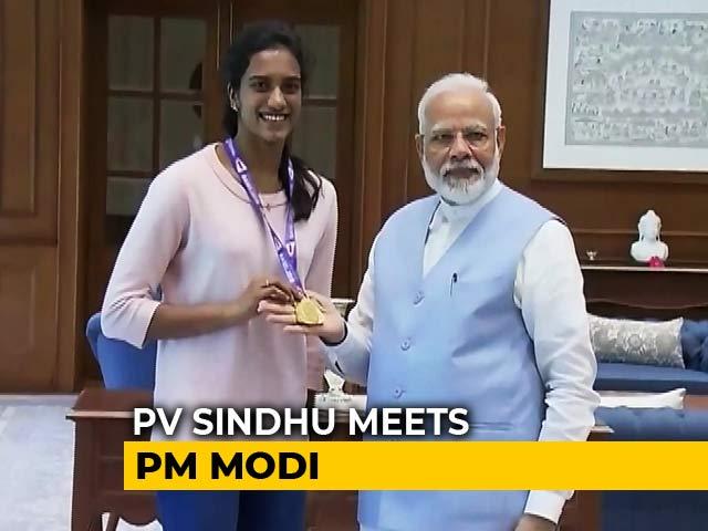 "Video : PM Narendra Modi Meets World Champion PV Sindhu, Calls Her ""India's Pride"""