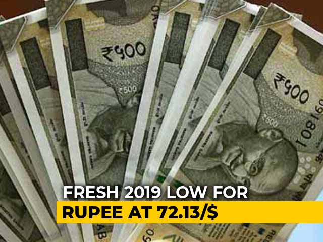 Video : Rupee Declines By 51 Paise To Hit New 2019 Low Against Dollar